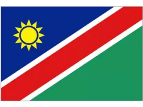 Large Namibia Flag  5 x 3 eyelets Premium Quality - free UK 1st class delivery